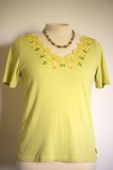 Embroidered neckline